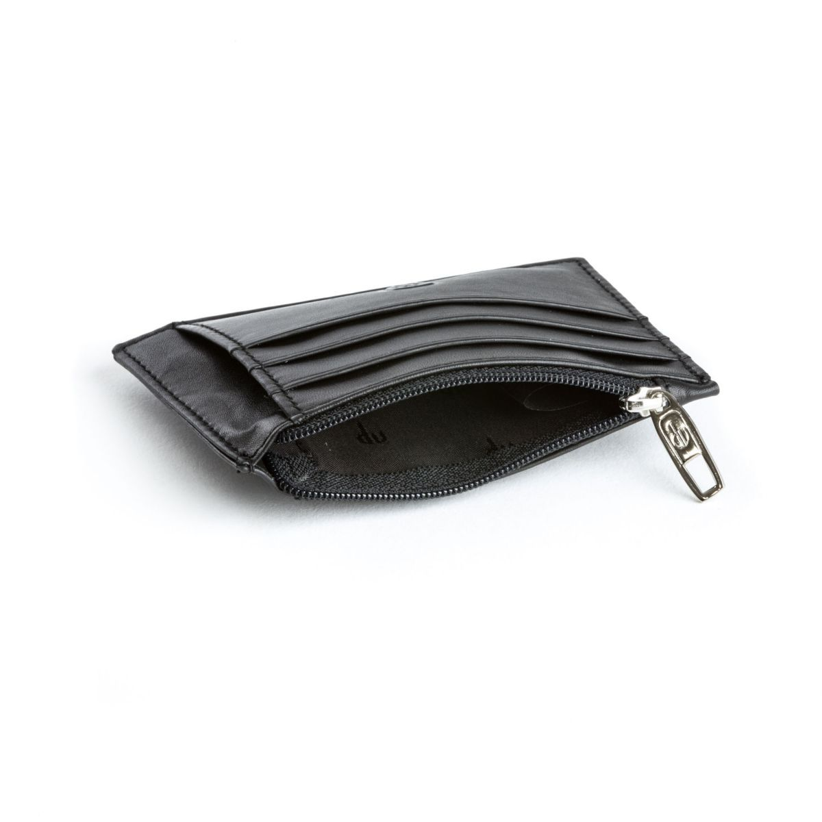 dv Slim leather credit card wallet - Black