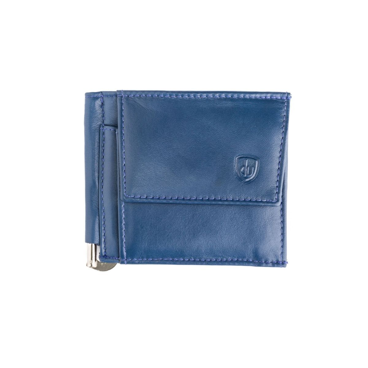 dv Small Leather Wallet With Clips And Coin Pocket - Blue
