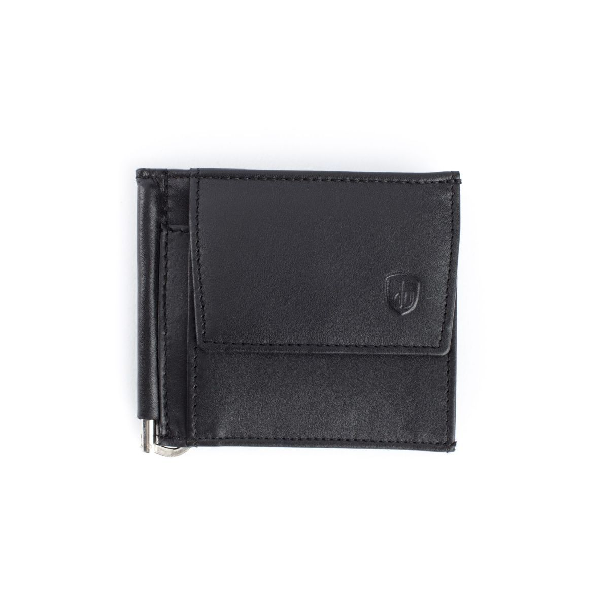 dv Small Leather Wallet With Clips And Coin Pocket - Black