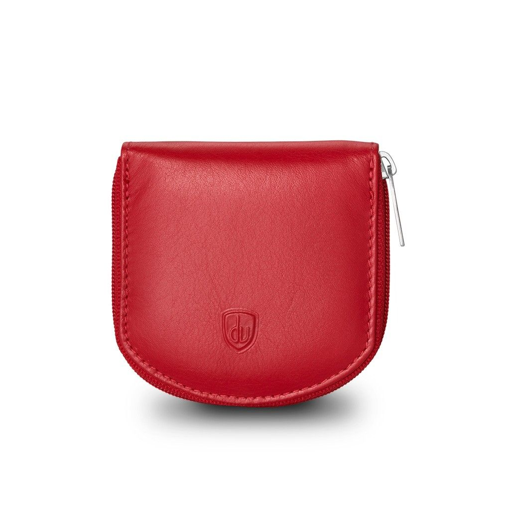 dv Leather Coin Purse - Red