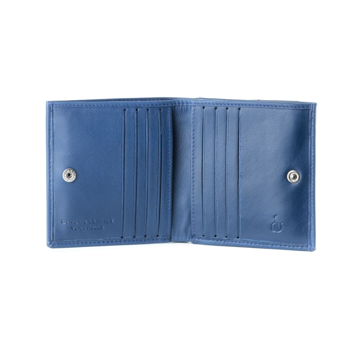 Small mans elegant billfold wallet  - Blue