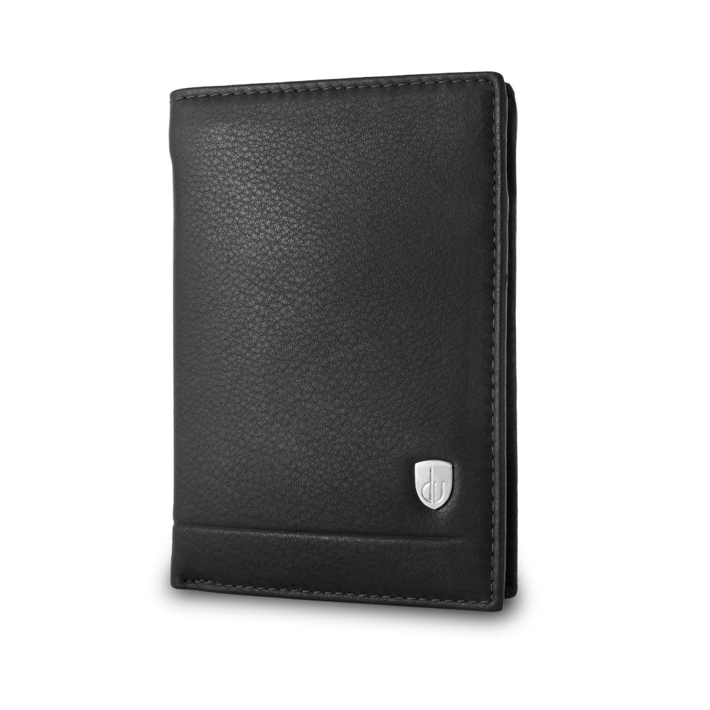 dv Mans folding leather wallet - Black