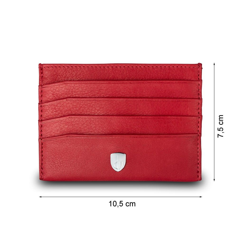 dv Minimalist leather credit card wallet - Red