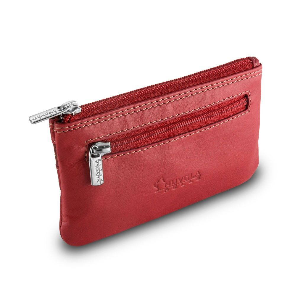 Leather key holder - Red