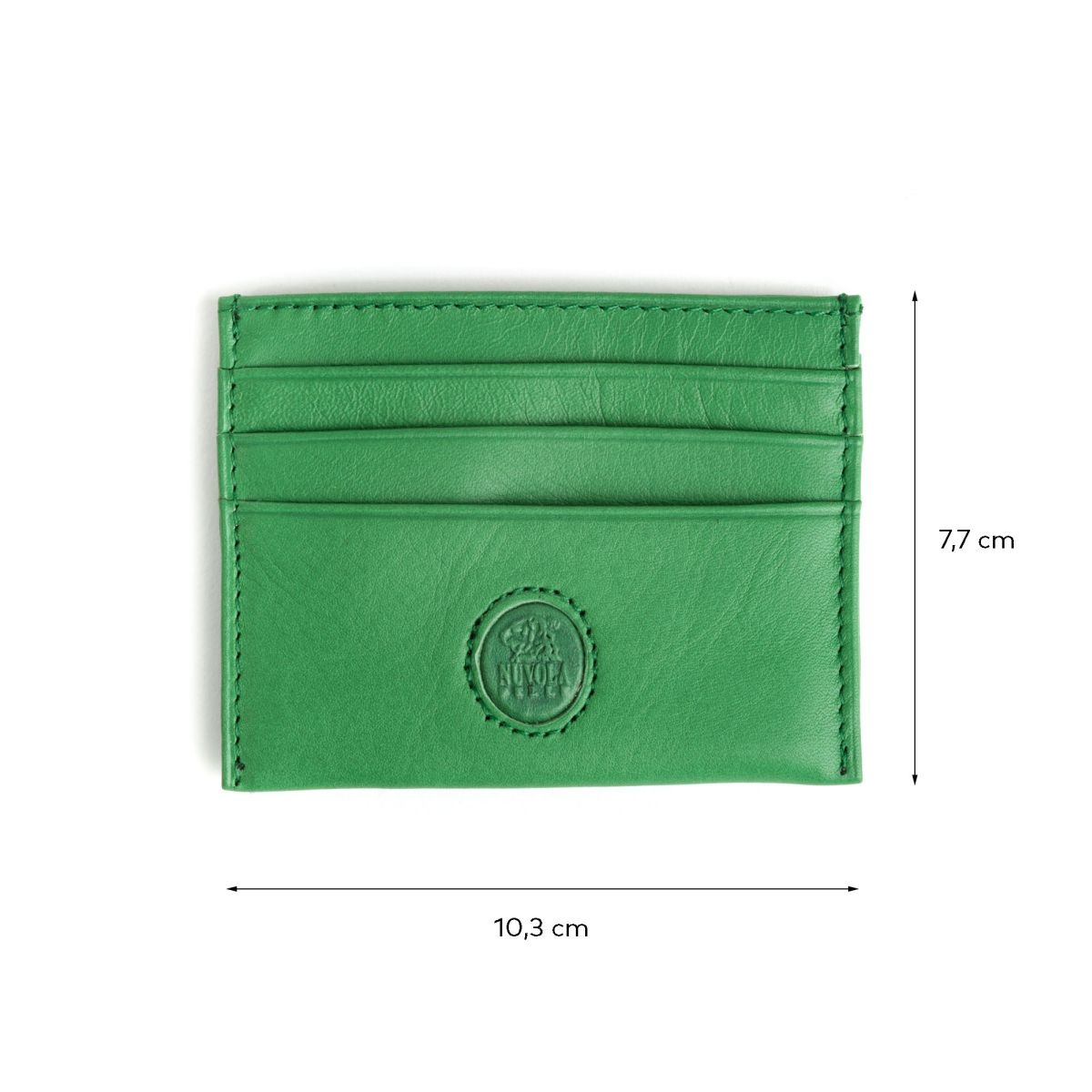 NUVOLA PELLE Minimalist leather credit card wallet - Green