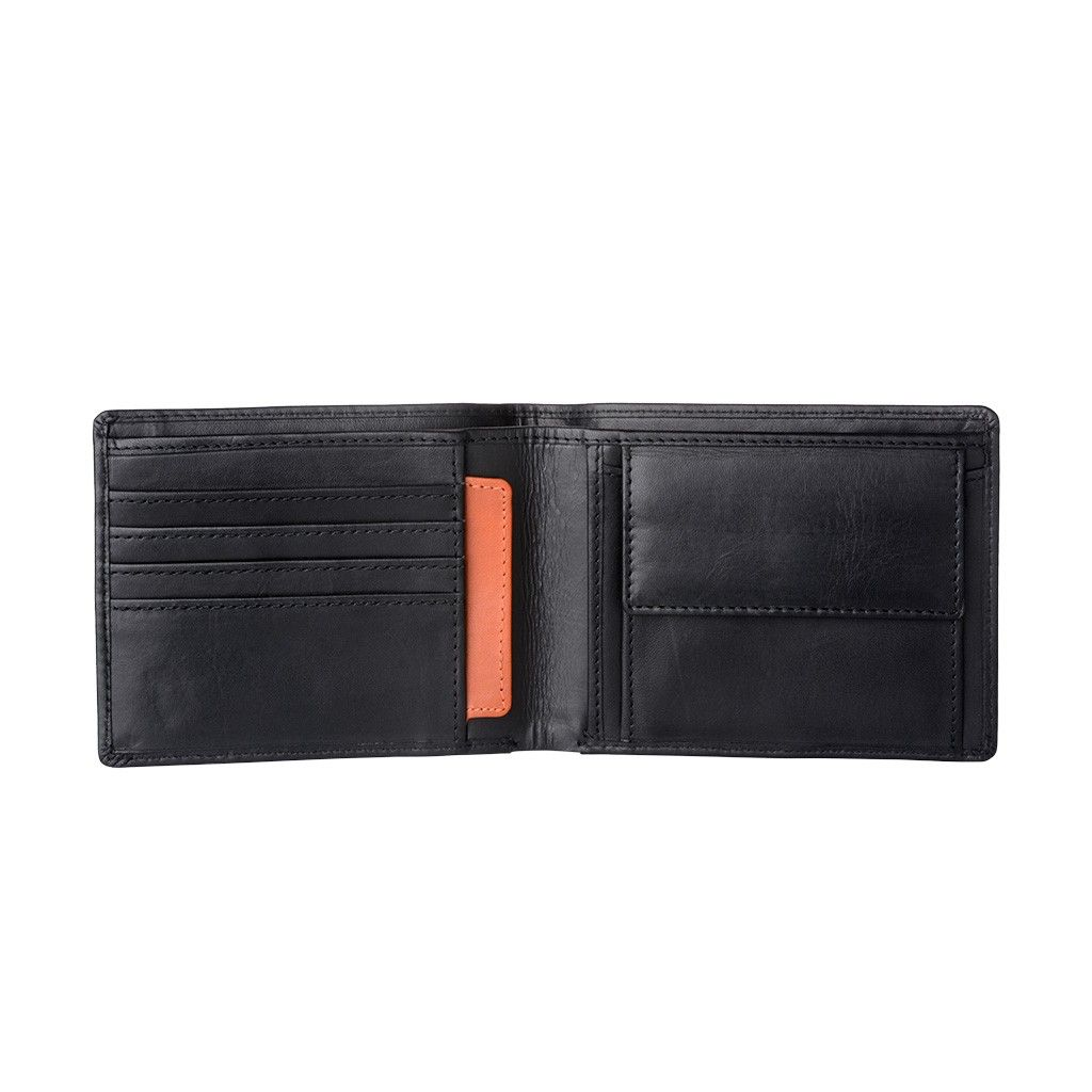 Mens Thin Leather Wallet - Black