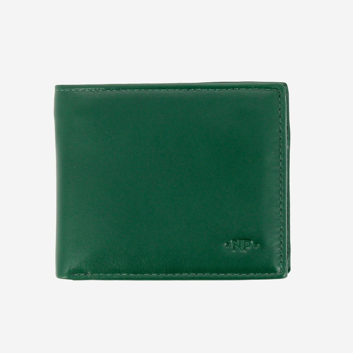 NUVOLA PELLE Small Wallet For Men With Coin Purse - Green