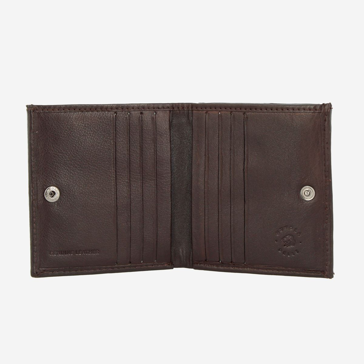 NUVOLA PELLE Small Unique Leather Wallet  - Dark Brown