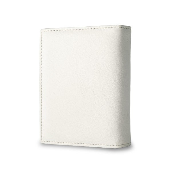 NUVOLA PELLE Leather wallet with coin purse and external closure - Cream
