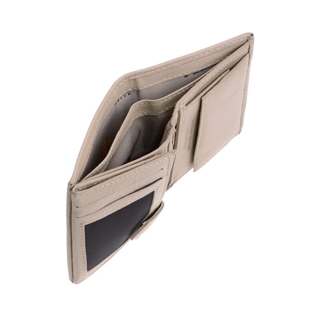 NUVOLA PELLE Vertical small leather wallet - Natural