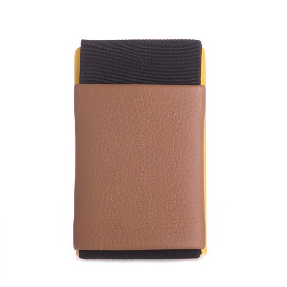 elephant Minimalist Rubber Wallet - Brown