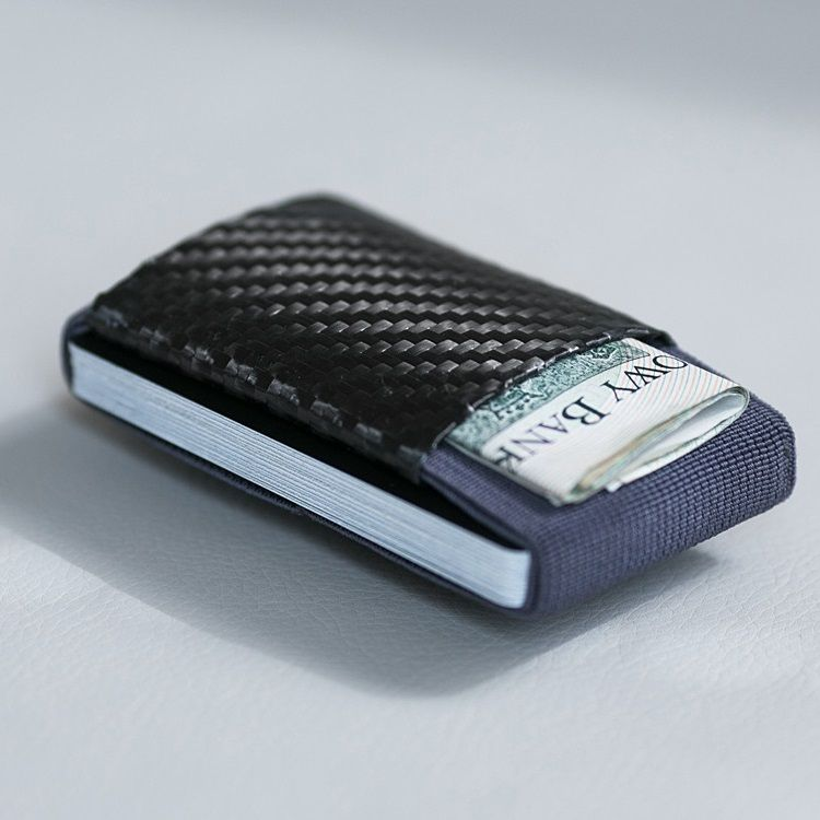 Minimalist Soft Carbon - Rubber Wallet - Gray