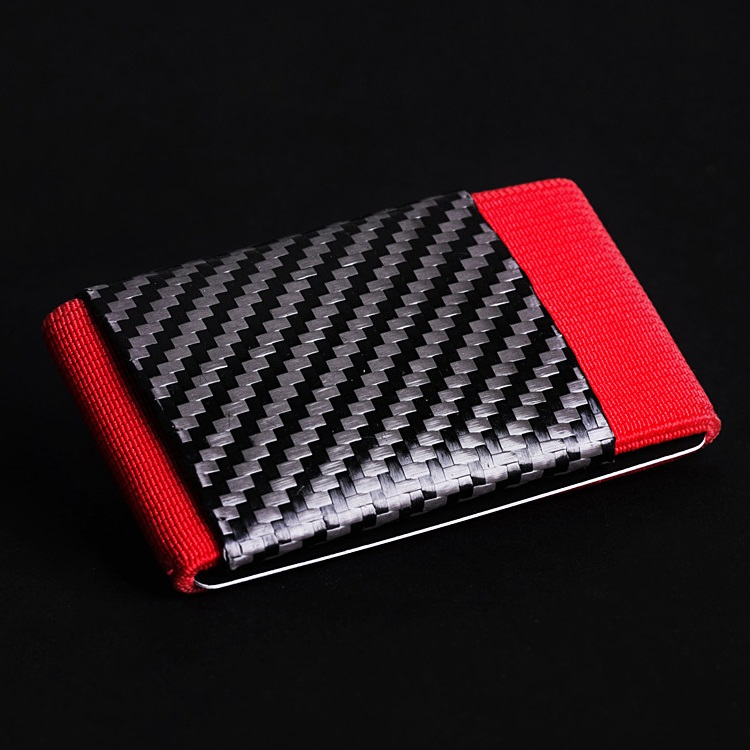 elephant Minimalist Soft Carbon - Rubber Wallet - Red