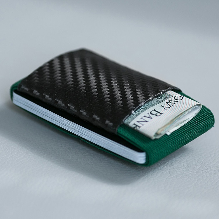 Minimalist Soft Carbon - Rubber Wallet - Green
