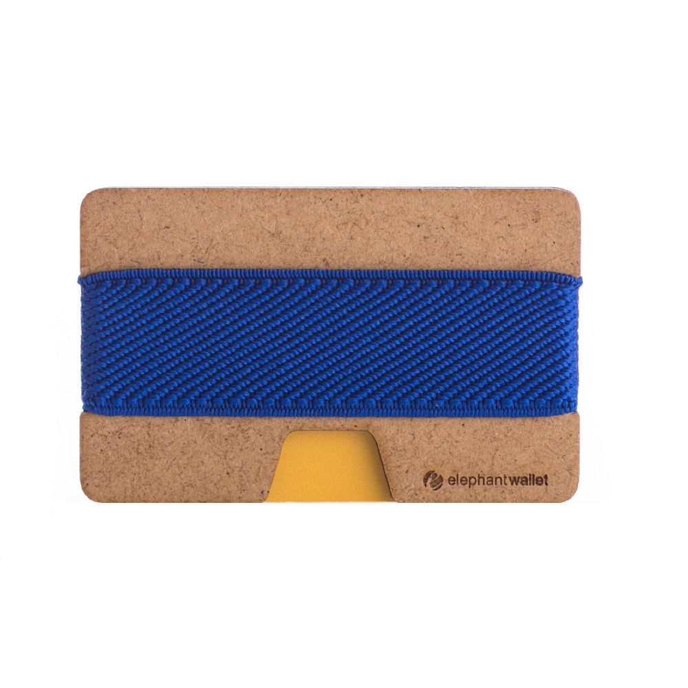 Minimalist Wood Wallet - Wood/Blue