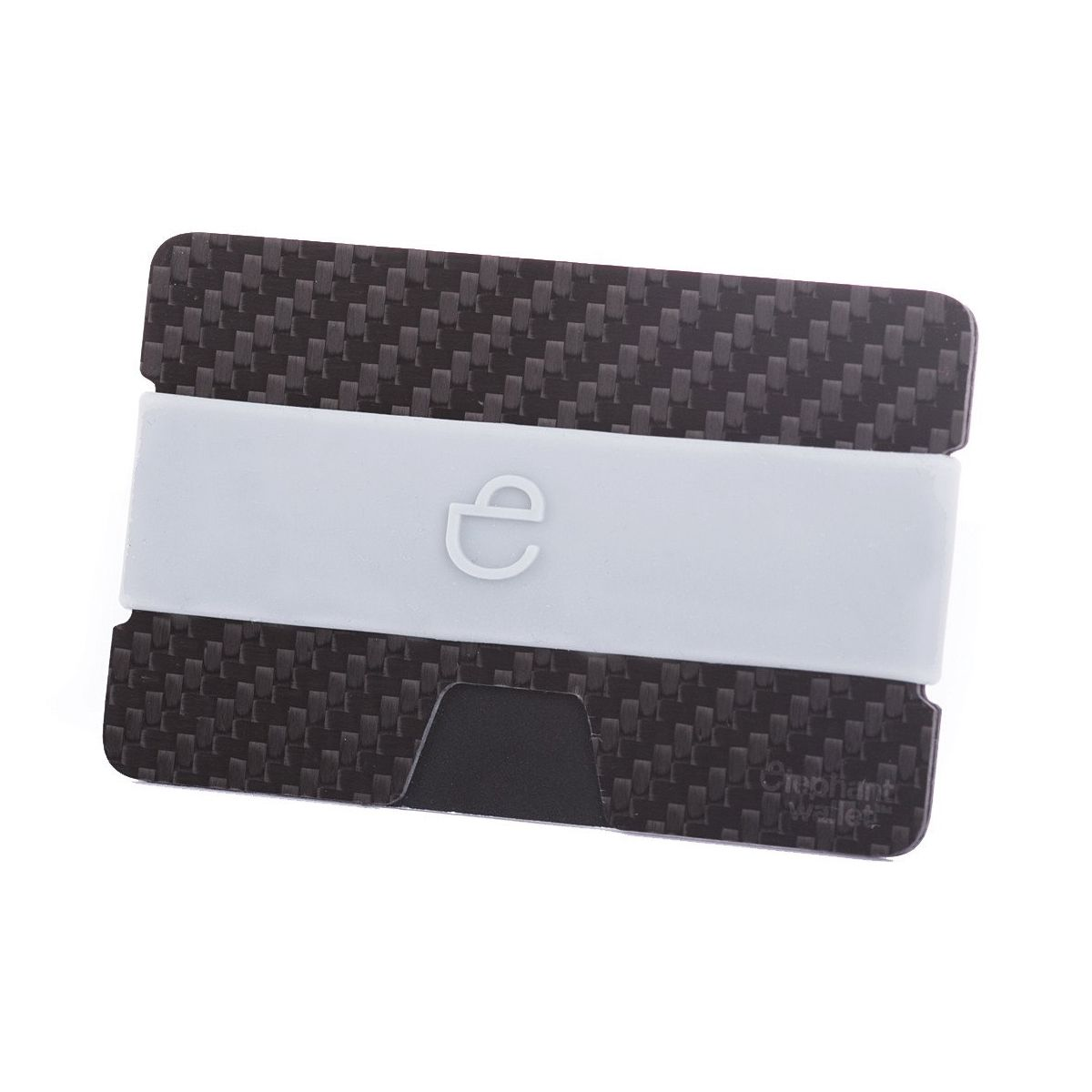 Minimalist Carbon Fiber Wallet with Silicone Strap - Carbon/Grey