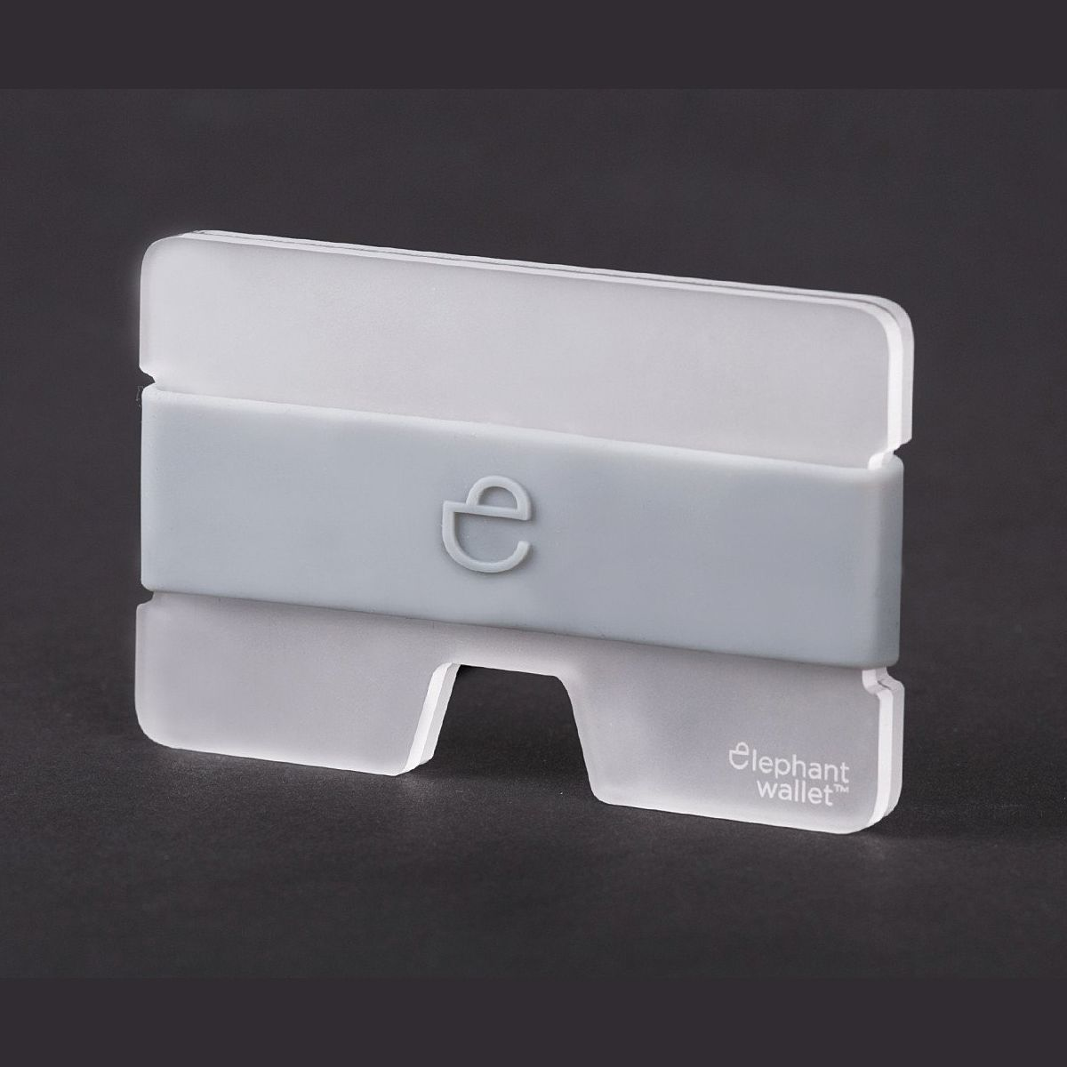 elephant Minimalist Plexi Wallet - Clear/Grey