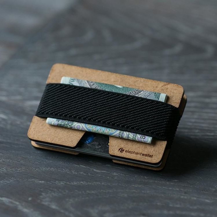 Minimalist Wood Wallet - Wood/Black
