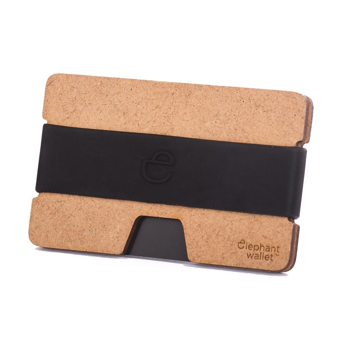 elephant Minimalist Wood Wallet - Wood/Black