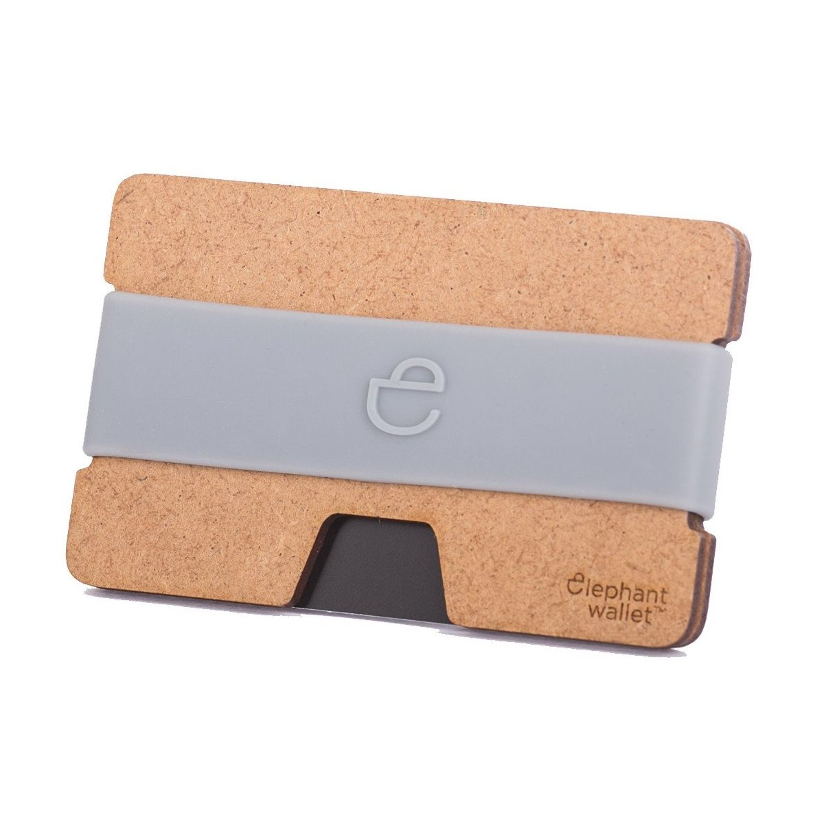elephant Minimalist Wood Wallet - Wood/Grey