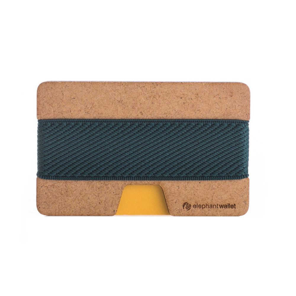Minimalist Wood Wallet - Wood/Dark Green