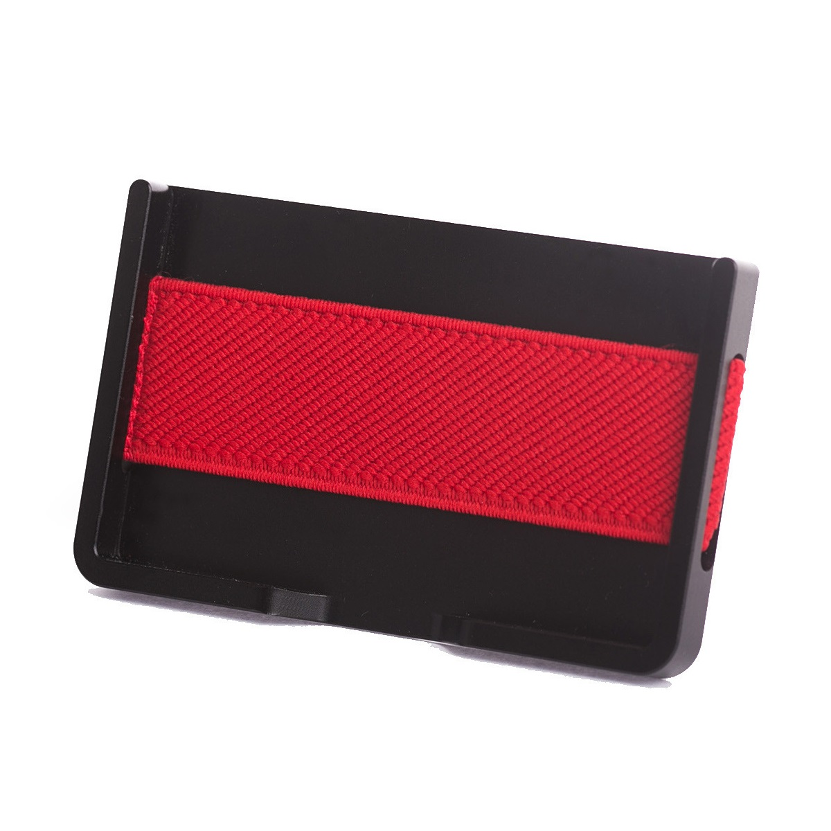elephant Minimalist Aluminum Wallet - Black/Red