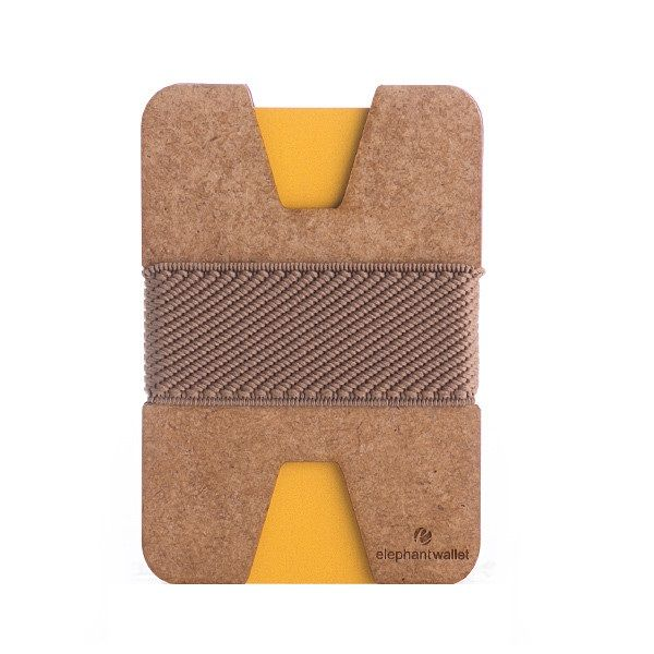 elephant Minimalist Wood Wallet - Wood/Light Brown