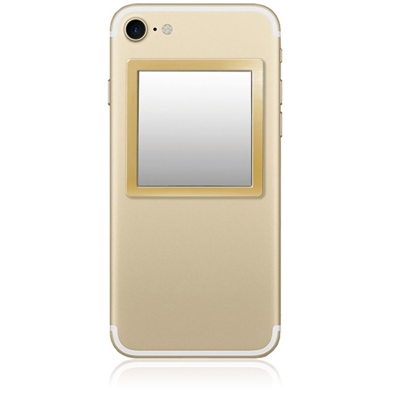iDecoz Unbreakable Square Phone Mirror - Gold