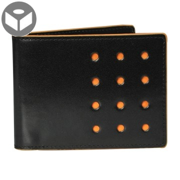 V-Twelve Leather Wallet with Coin Pouch - Black