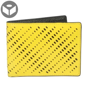 J.FOLD Leather Wallet with Coin Pouch Reverb - Yellow