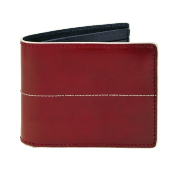 J.FOLD Thunderbird Leather Wallet - Red/Blue