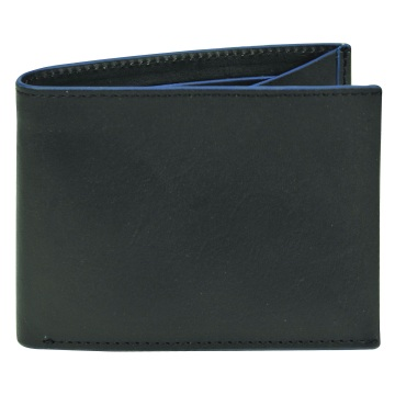 J.FOLD Clearcut  Leather Wallet - Black