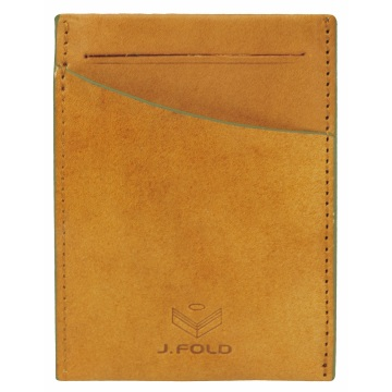 J.FOLD Front Pocket Leather Wallet - Brown