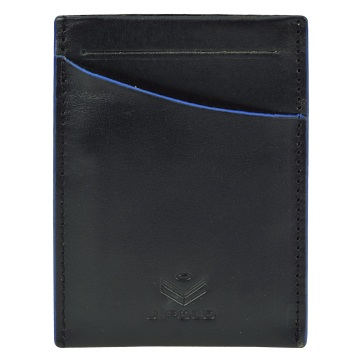 J.FOLD Front Pocket Leather Wallet - Black