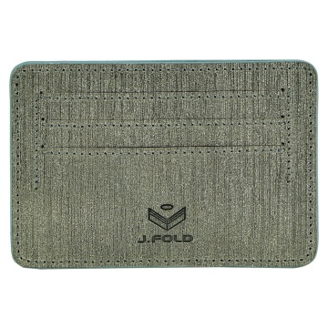 J.FOLD Flat Carrier Leather Wallet - Gray