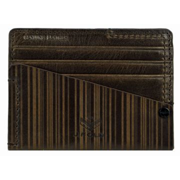 J.FOLD Flat Carrier Leather Wallet - Brown