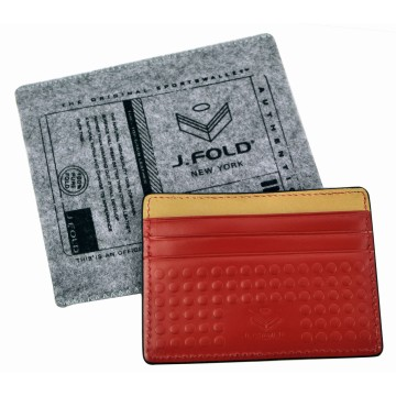 Flat Carrier Leather Wallet - Red