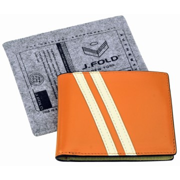 J.FOLD Leather Wallet with Coin Pouch Roadster - Orange