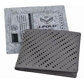J.FOLD Reverb Leather Wallet - Grey