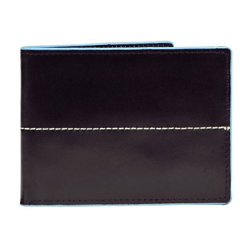Thunderbird Leather Wallet with Coin Pouch - Black