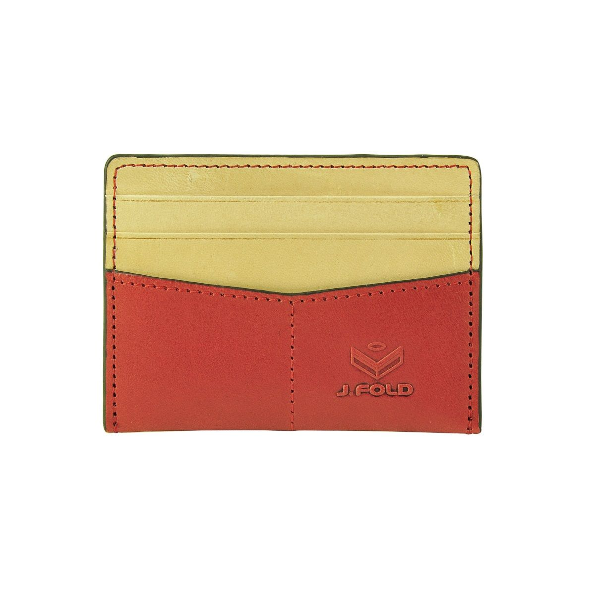 J.FOLD Flat Carrier Leather Wallet - Red