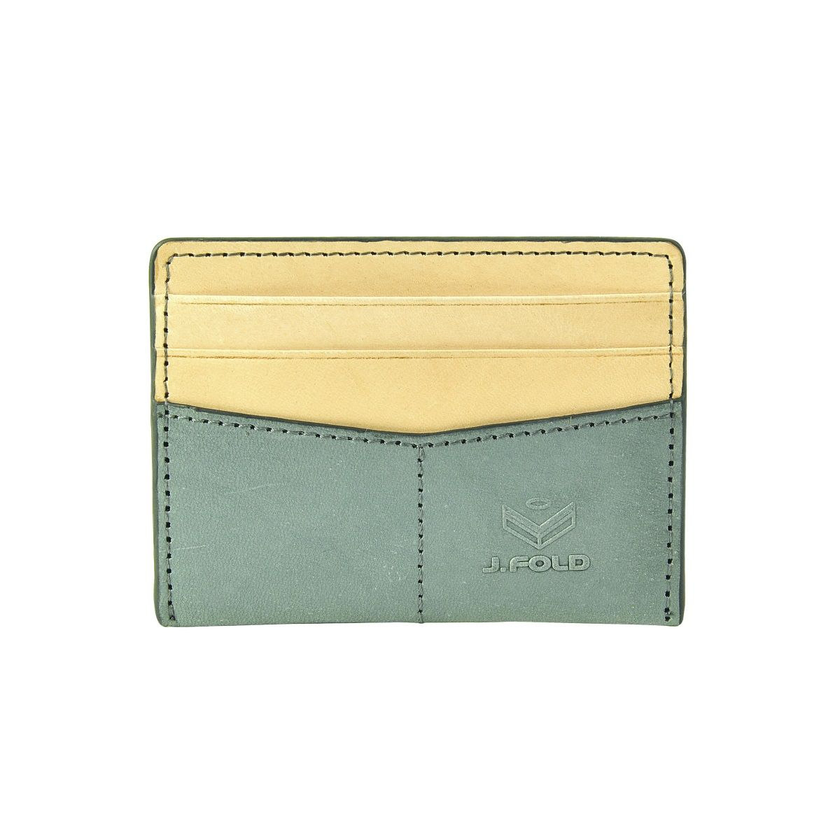 J.FOLD Flat Carrier Leather Wallet - Slate