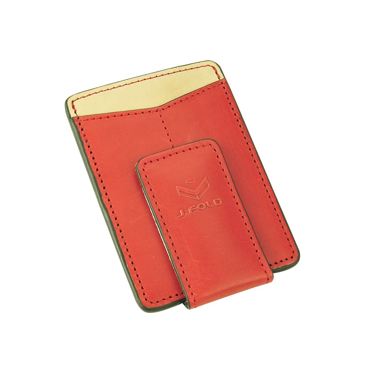 J.FOLD Magnetic Money Clip Wallet - Red