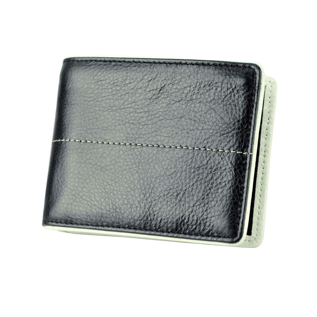 J.FOLD Stitched Panel Leather Wallet - Black
