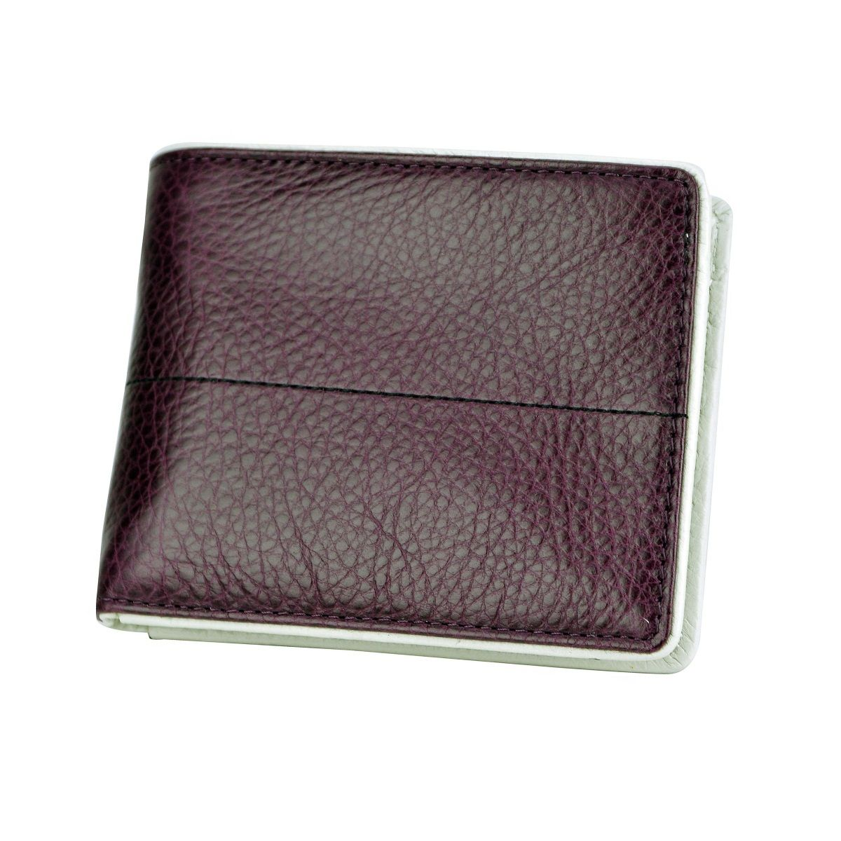 J.FOLD Stitched Panel Leather Wallet - Purple