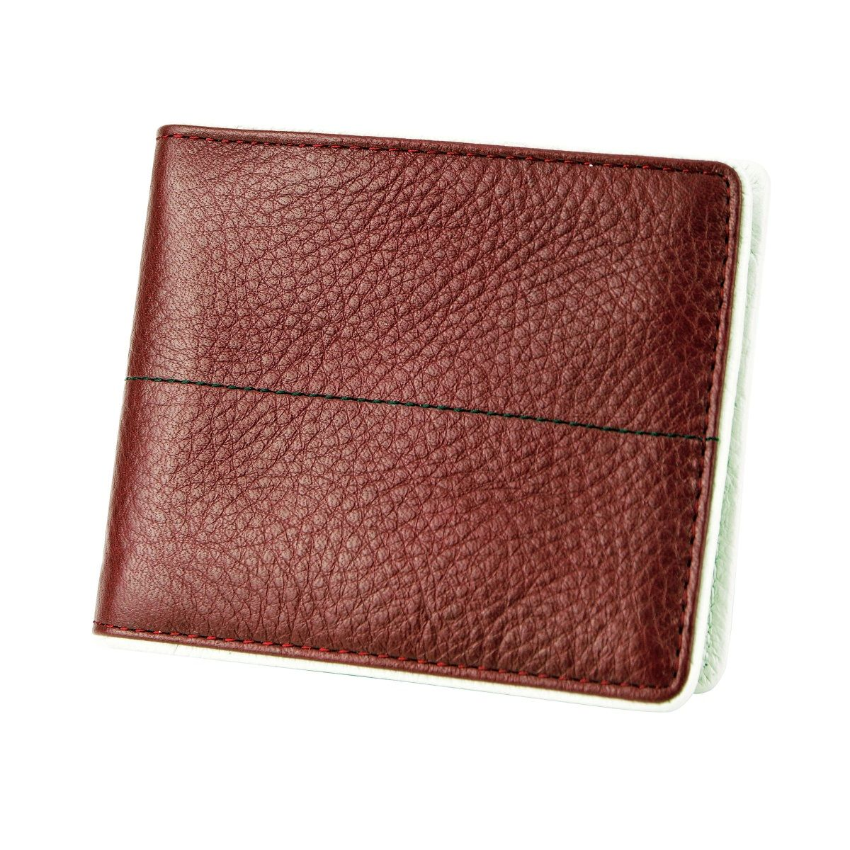 J.FOLD Stitched Panel Leather Wallet - Red
