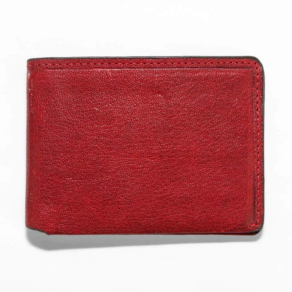 J.FOLD Leather Wallet Overstone - Red
