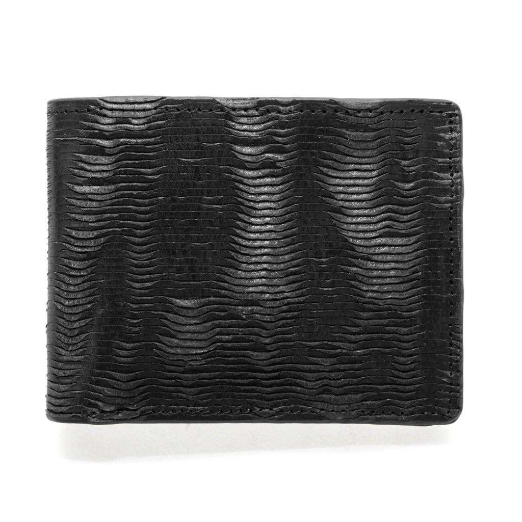 J.FOLD Leather Wallet Furrow - Black