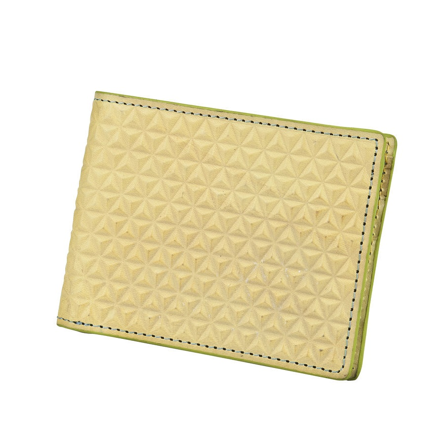 J.FOLD Tetra Leather Wallet - Lemon