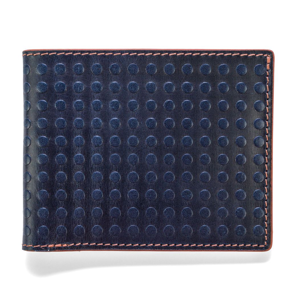 J.FOLD Altrus Leather Wallet - Navy
